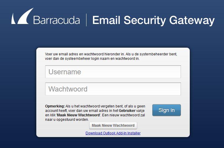 Barracuda-login